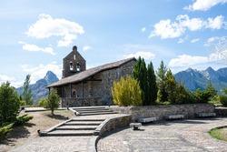 Nuestra Senora del Rosario Church. Romanesque church in Riano, Spain