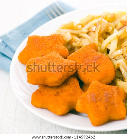 Nuggets with potato
