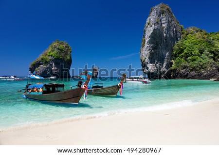 Nui Bay Beach at Ko Phi Phi Don island, Krabi province, Thailand