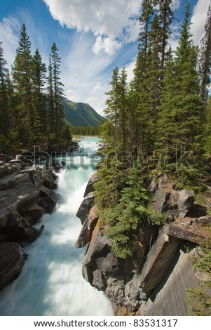 Numa Falls at Kootenay National Park, British Columbia, Canada