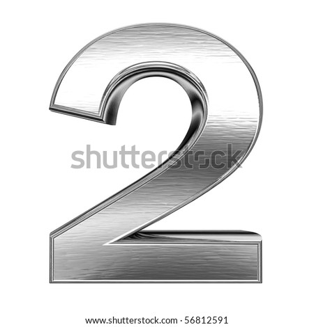 number - 2 - stock photo