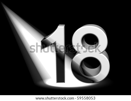 number 18 - stock photo