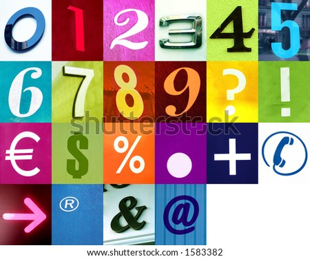 Number Alphabet 2  Use this signs and my two other Letters alphabet like this in my portfolio!