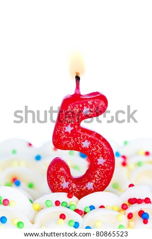 Number five candle