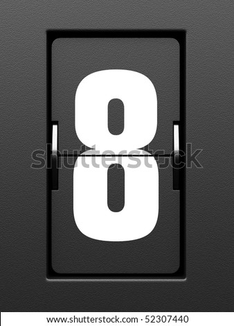 Number 8 from mechanical scoreboard alphabet