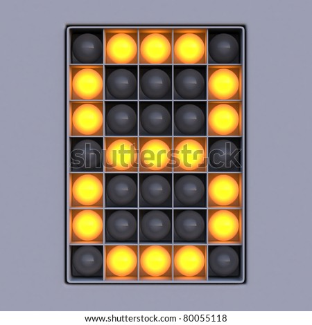 Number 8 from scoreboard alphabet (5x7 lights)