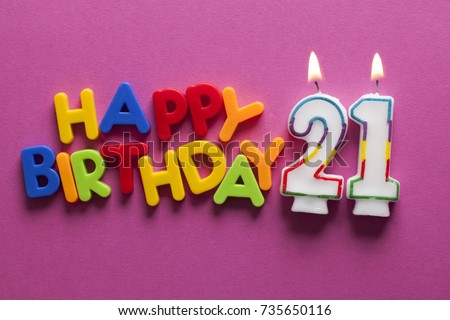 Number 21 Happy Birthday Celebration Candle 735650116