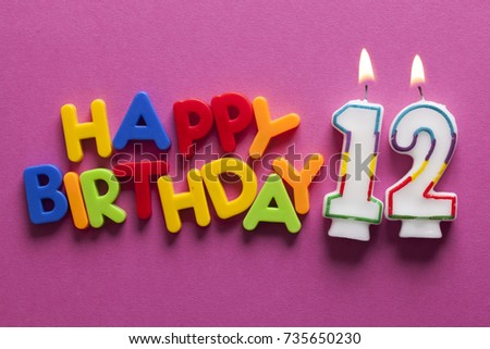 Number 12 Happy Birthday Celebration Candle 735650230