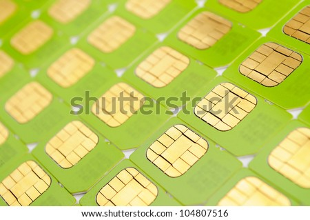 Number of green SIM cards. May be used as background