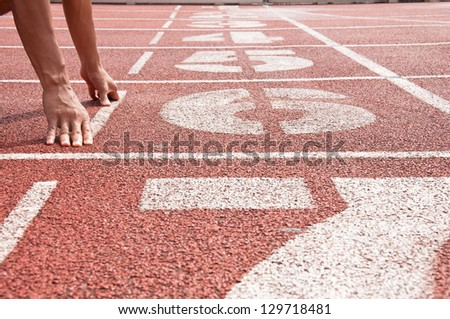 Number 6 on running track