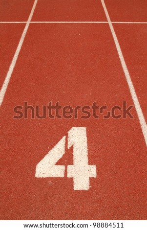 Number 4 on running track