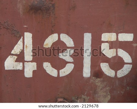 Number on Train
