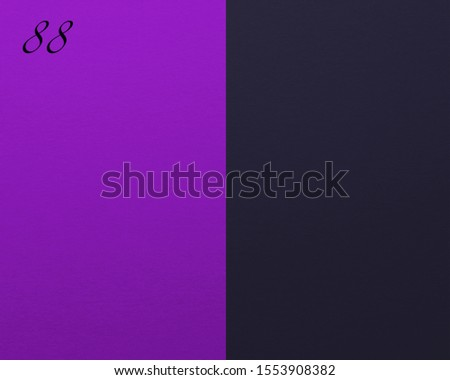 Number 88 on violet-blue cardboard paper background.