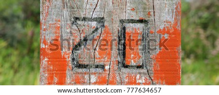 Number 20 on wooden background #777634657