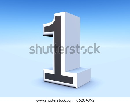 Number One Computer generated 3D illustration - stock photo