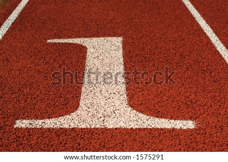 Number one in a running track