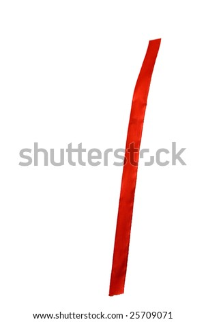 Number one written with a red ribbon