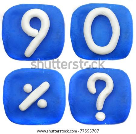 number plasticine