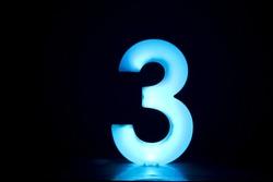 number 3 (three).