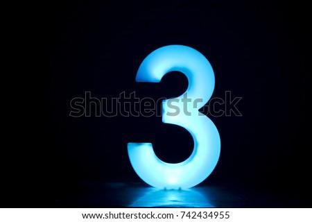 number 3 (three).   #742434955