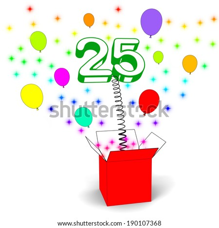Number Twenty Five Surprise Box Meaning Beautiful Creativity And Surprise