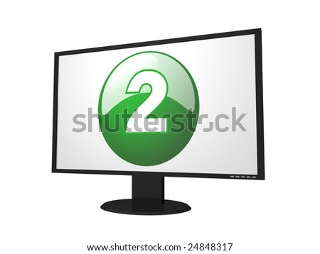 number two monitor for presentation