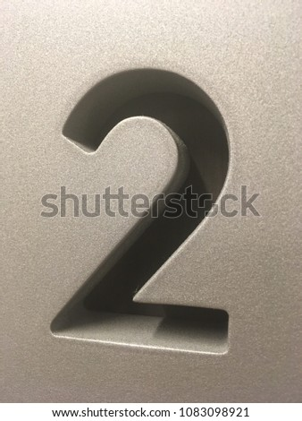 Number two - 2 - #2 Sign #1083098921