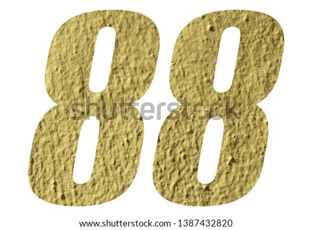 Number 88 with yellow wall on white background