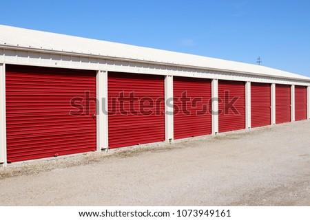 Numbered self storage and mini storage garage units XI