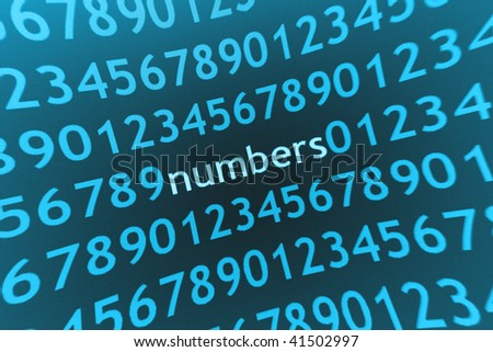 numbers abstract