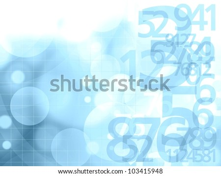 numbers blue background illustration