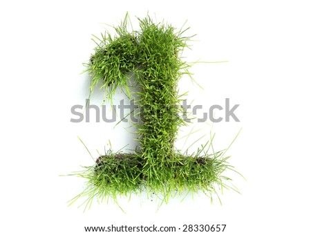 Numbers made of grass - 1