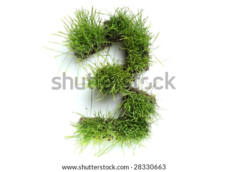 Numbers made of grass - 3