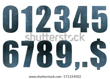 Numbers made of iron, numbers, graphic materials, 0 to 9 #571334002