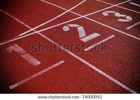 Numbers on running track - added vignette lets you focus on the numbers