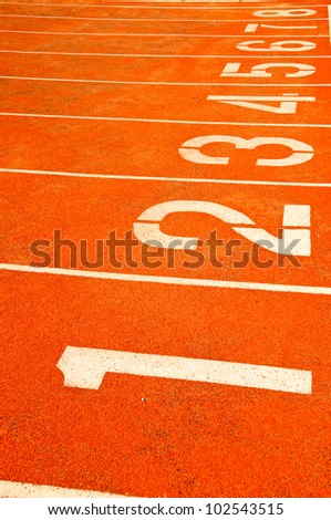 Numbers on start running track - other number you can check in my portfolio