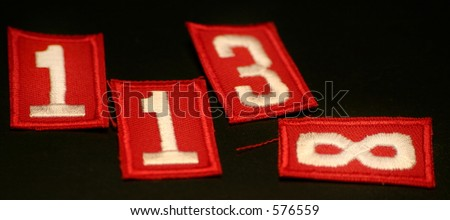 Numbers (Red Scout Patches)