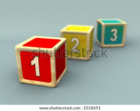Numbers sequence. CG illustration.