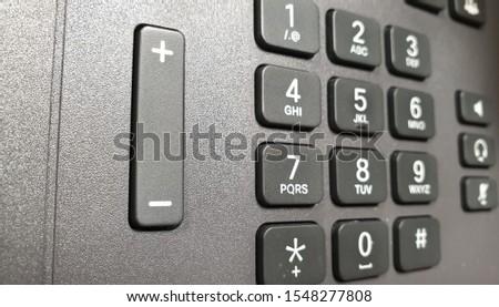 numeric keypad in gray tones #1548277808