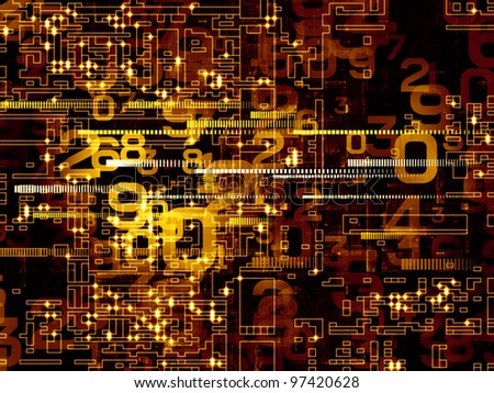 Numeric network background suitable as a backdrop for projects on technology, networks, computing and digital communications