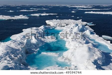 Nunavut (canadian arctic) - stock photo