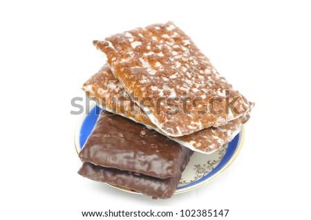 nurnberg cake isolated on white background