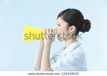 Nurse, blue back