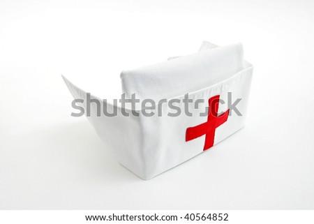 Nurse cap, isolated on white