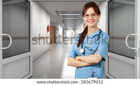Nurse, Doctor, Asian Ethnicity.