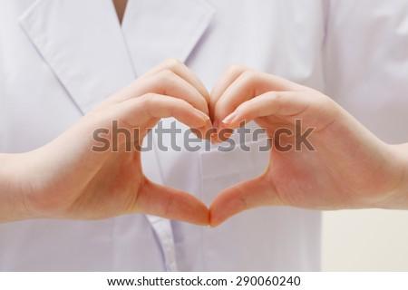 Nurse hand heart
