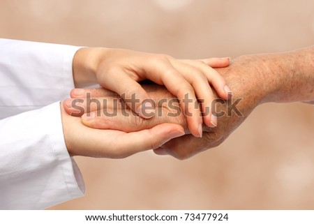 Nurse helping senior