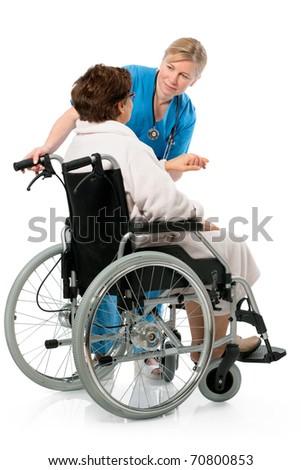 nurse with a senior patient in wheelchair