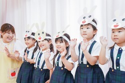 Nursery and children practicing for concert