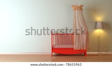 nursery modern interior composition